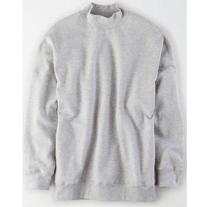 Studio Fleece Oversized Mock Neck Sweatshirt